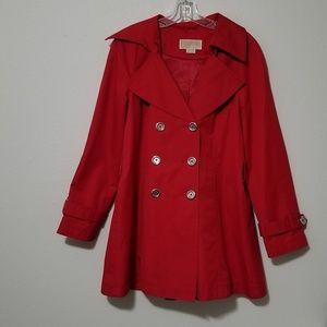 Michael Kors Red Button PeaCoat Lighweight Jacket